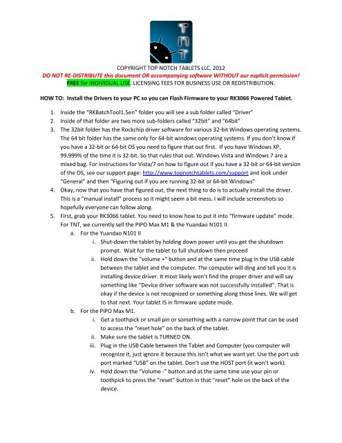 COPYRIGHT TOP N DO NOT RE-DISTRIBUTE this document OR
