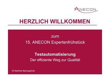 HERZLICH WILLKOMMEN - Anecon