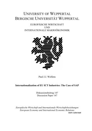 UNIVERSITY OF WUPPERTAL - EIIW