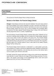 Press Release Smoke on the Water: the Porsche Design Shisha