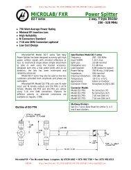 MICROLAB/FXR Power Splitter - Rfoe.net