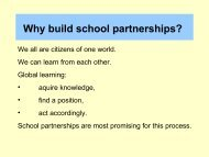 Why build school partnerships?