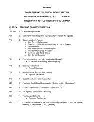 Agenda - South Burlington School District