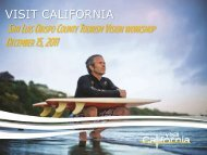 San Luis Obispo County Tourism Vision Workshop - the California ...