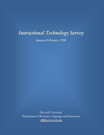 Instructional Technology Survey - Harvard University