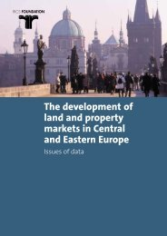 The development of land and property markets in Central and ...