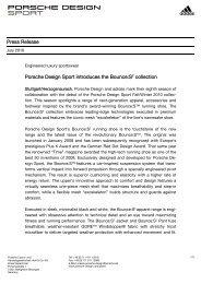 Porsche Design Sport Introduces The Bounce:S Collection