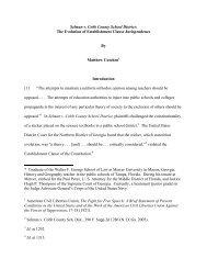 Selman v. Cobb County School District: The Evolution of ...