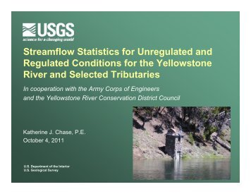 Streamflow Statistics for Unregulated and Regulated Conditions for ...