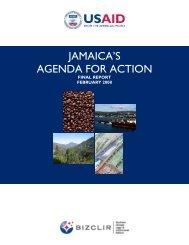 JAMAICA'S AGENDA FOR ACTION - Economic Growth - usaid