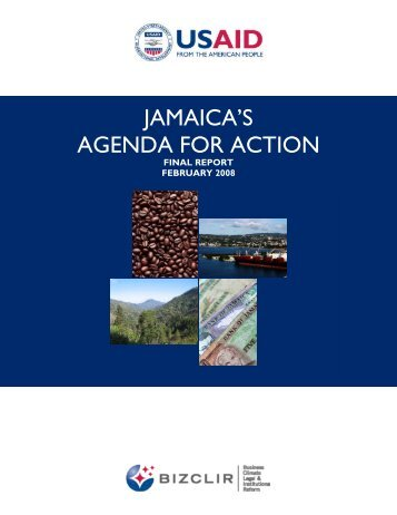 JAMAICA'S AGENDA FOR ACTION - Economic Growth - usaid