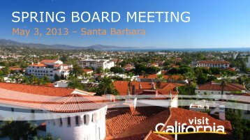 SPRING BOARD MEETING - the California Tourism Industry Website