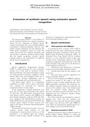 Evaluation of synthetic speech using automatic speech recognition