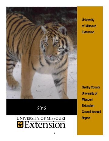 2012 Gentry County Extension Council Annual Report - University of ...