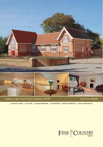Gardemau Lodge | Church Road | Coddenham ... - Fine & Country