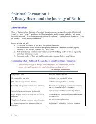 Spiritual Formation I - Libsyn