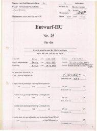 Entwurf Haushaltsunterlage von 1995
