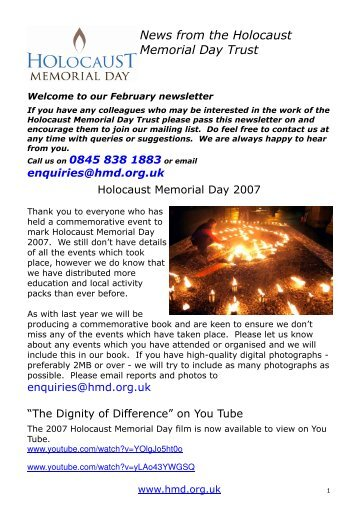 HMD News 9 - Holocaust Memorial Day Trust