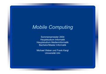 Mobile Computing - Universität Ulm