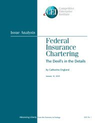 Federal Insurance Chartering - Competitive Enterprise Institute