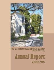 2005/06 - Bechtel International Center - Stanford University