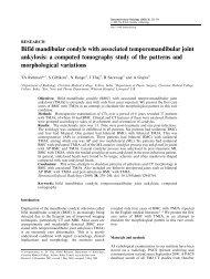 Bifid mandibular condyle with associated temporomandibular joint ...