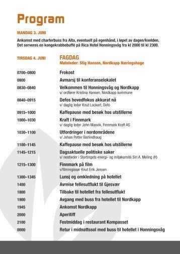 Revidert program for Honningsvåg - Defo