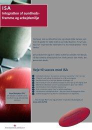 Veje til succes med ISA Integration af sundheds- fremme og ...