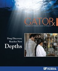 Depths - College of Pharmacy - University of Florida