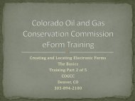 Creating and Locating Electronic Forms - Colorado Oil and Gas ...