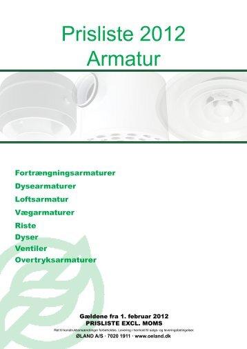 Prisliste 2012 Armatur - Øland Online