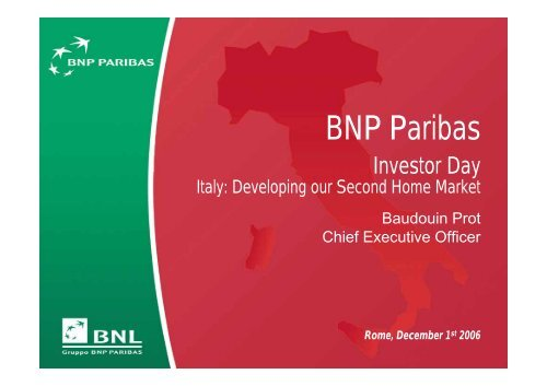 Italy: Developing our Second Home Market - BNP Paribas