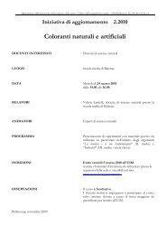 Coloranti naturali e artificiali - GESN