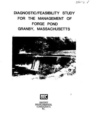 diagnostic_feasibilty study for the management of forge pond granby ...
