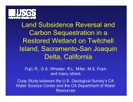 Land Subsidence Reversal and Carbon Sequestration in a Restored ...