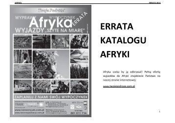 Pobierz erratę do katalogu Afryki - Konsorcjum Polskich Biur Podróży