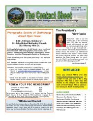 2010-10 October - Photographic Society of Chattanooga