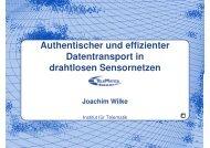 Vortragsfolien - Karlsruher Institut für Technologie (KIT) - Institut für ...