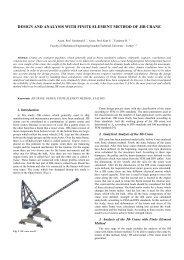 design and analysis with finite element method of jib crane