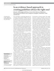 Is an evidence-based approach to creating guidelines always the ...