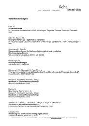Veröffentlichungen: - bei der Reha Rheinfelden