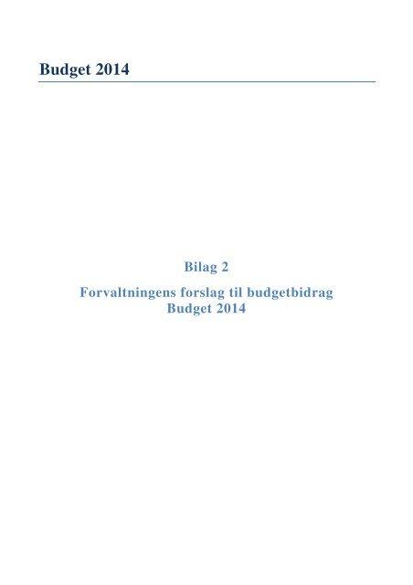 forslag til budgetbidrag for budget 2014 her