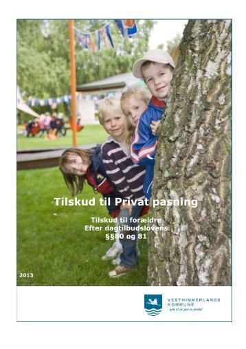 """""""Tilskud til privat pasning"""" her - Vesthimmerlands Kommune"""