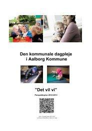 Perspektivplan 2012/2013 for Dagplejen i Aalborg Kommune