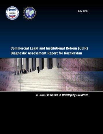 Kazakhstan CLIR Report - Economic Growth - USAid