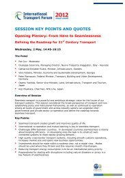 SESSION KEY POINTS AND QUOTES Opening Plenary - International ...
