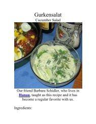 Gurkensalat - The Geriatric Gourmet