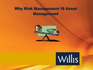 Working Smarter: Systemizing Asset and Risk Management