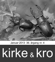 Kirke & Kro - årgang 36. nr.4. januar 2013 - Nødebo Kro