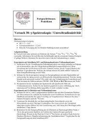 Versuch 38 - Positron Annihilation in Halle - Martin-Luther ...
